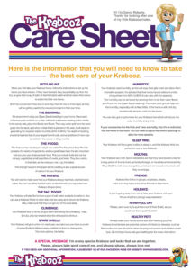 Krabooz Care Sheet