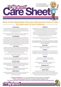 Krabooz Care Sheet